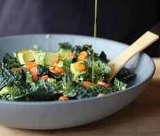 Gialina's Kale & Farro Salad with Avocado