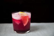 Concord Grape and Lemon Soda