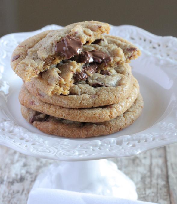 Crispy Brown Butter Chocolate Chunk Cookies